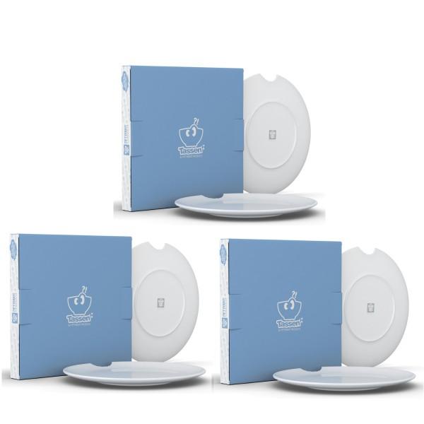 Fiftyeight 6er Set SPEISETELLER MIT BISS (Ø 28 cm) / weiß