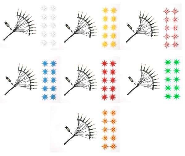 Herrnhuter Sterne LED STERNENLICHTERKETTE 10 Sterne / Farbe wählbar