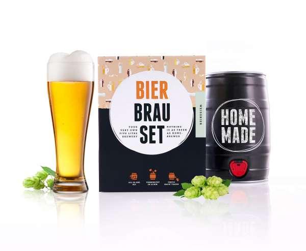 Braufässchen Bierbrauset WEISSBIER - WEIZEN Geschenkset | 5 Liter | in 7 Tagen fertig