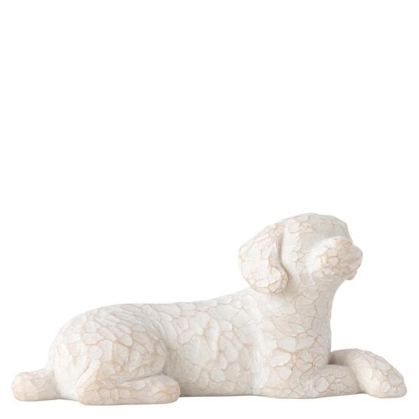 Willow Tree Figur Liebe meinen Hund (klein, liegend) / Love My Dog (Small, Lying)