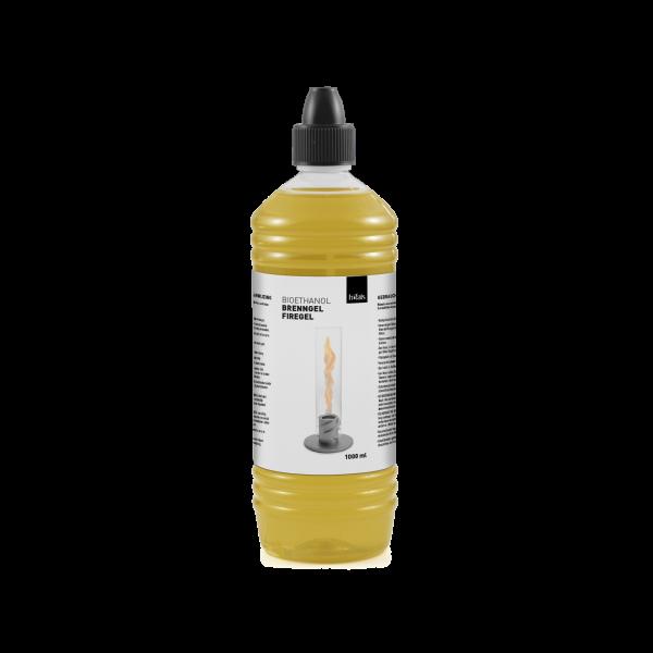 höfats Brenngel Bioethanol-Flasche 1L für SPIN Tischfeuer | Windlicht | Gartenfackel