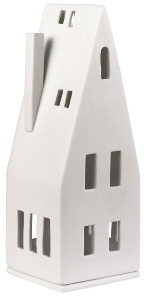 räder Porzellan LICHTHAUS Spitzdach / 7,5cm x 7,5cm x 20cm