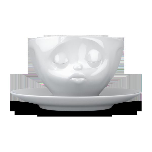 Fiftyeight Kaffeetasse KÜSSEND ca. 200ml / weiß