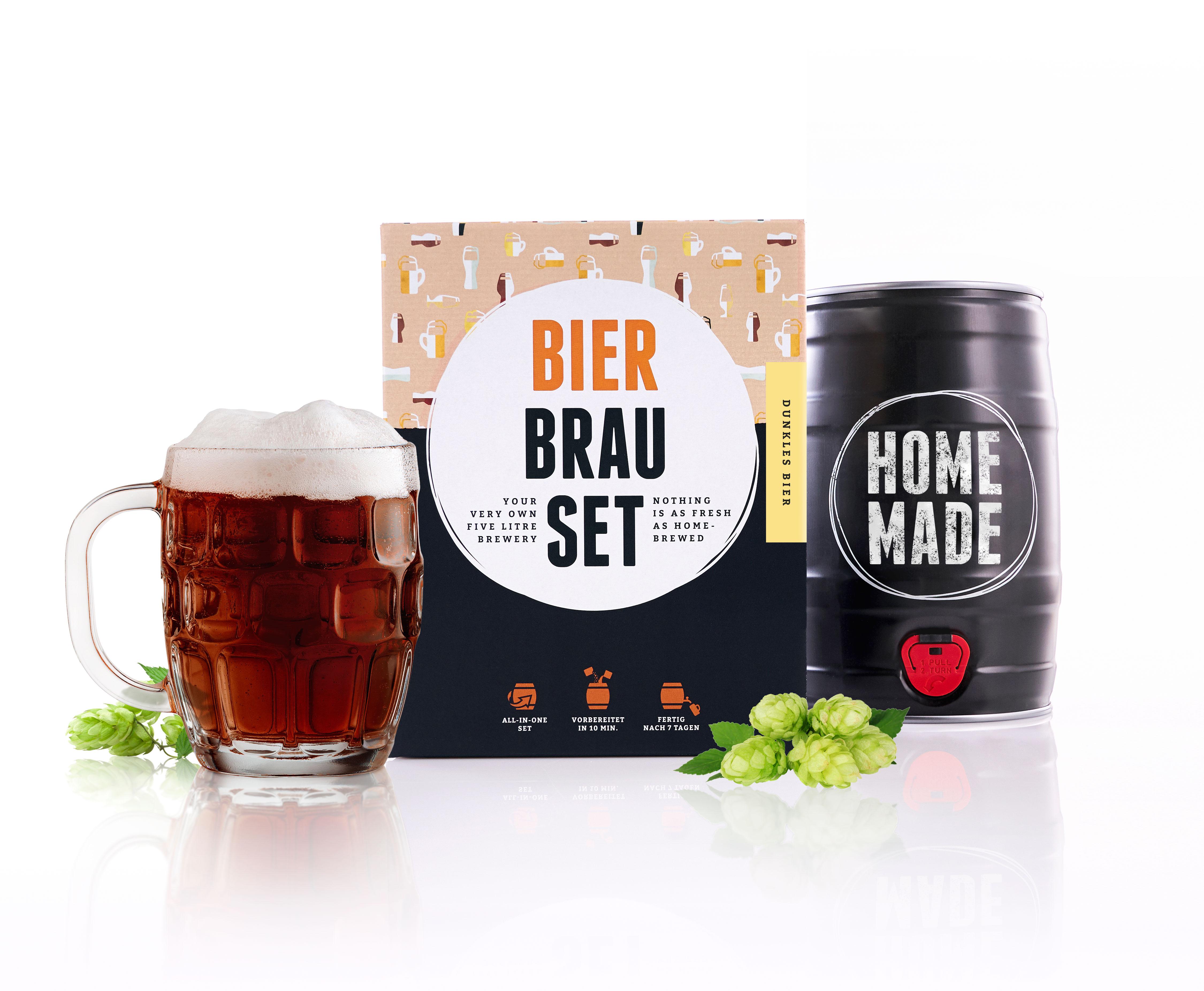 brauf sschen bierbrauset geschenkset dunkles bier zum selber brauen 5 liter ebay. Black Bedroom Furniture Sets. Home Design Ideas