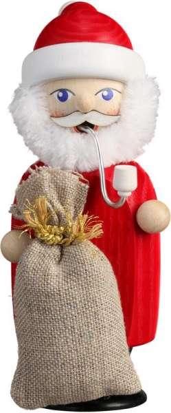 Seiffener Volkskunst Räucherfigur Weihnachtsmann / 14 cm