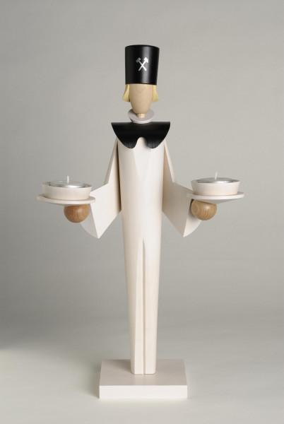 KWO Dekorationsfigur BERGMANN weiß / 40 cm