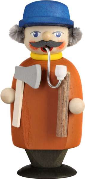 Seiffener Volkskunst Räucherfigur Holzsammler / 14 cm