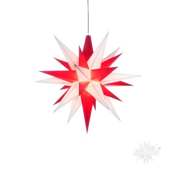 Herrnhuter Sterne ADVENTSSTERN Kunststoff A1e ca. Ø13 cm | weiß-rot
