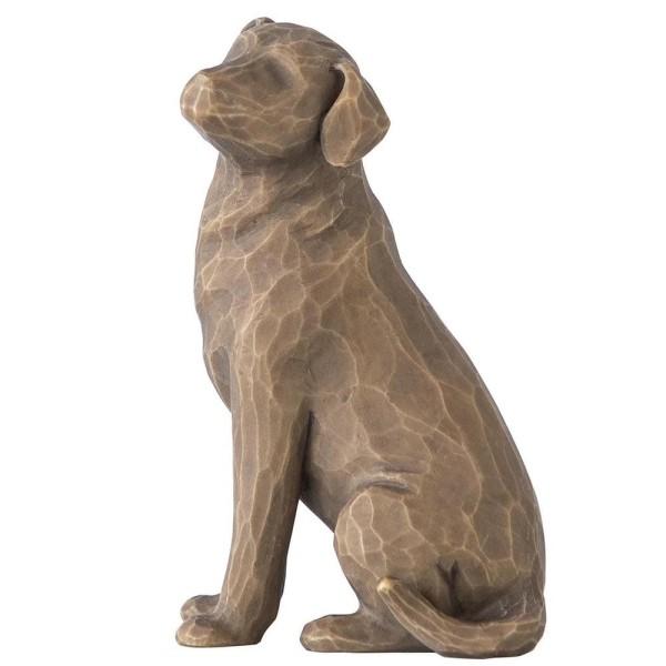 Willow Tree Figur Liebe meinen Hund (dunkel) / Love My Dog (Dark)