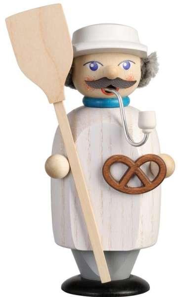 Seiffener Volkskunst Räucherfigur Bäcker / 14 cm