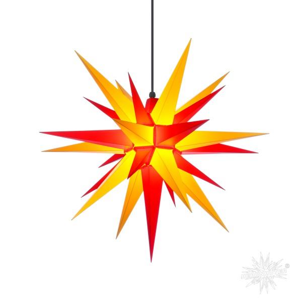Herrnhuter Sterne ADVENTSSTERN Kunststoff A7 ca. Ø68 cm | gelb-rot