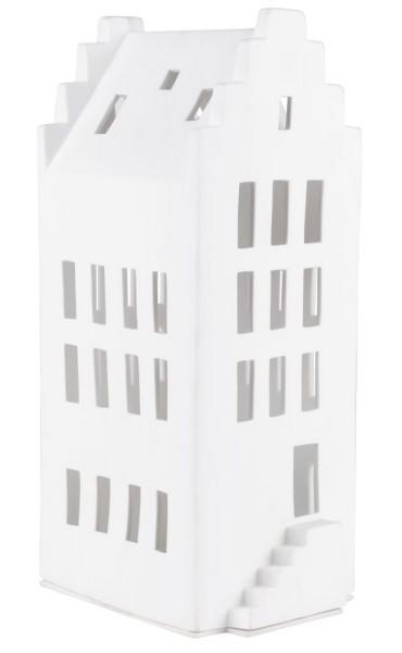 räder Porzellan GROßES LICHTHAUS Giebeldach / 11,5cm x 15,5cm x 31,5cm
