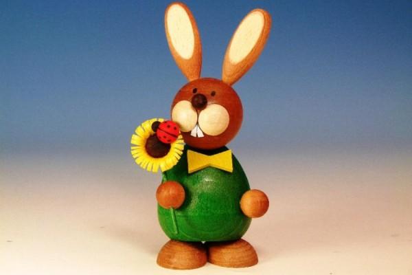 Paul Ullrich OSTERHASE stehend mit Sonnenblume / ca. 12 cm