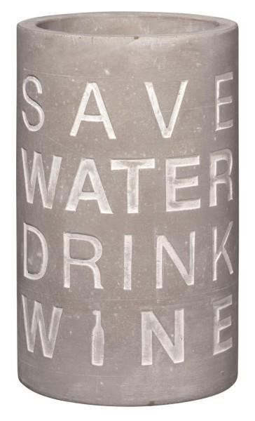 räder BETON FLASCHEN- & WEINKÜHLER Save water drink wine