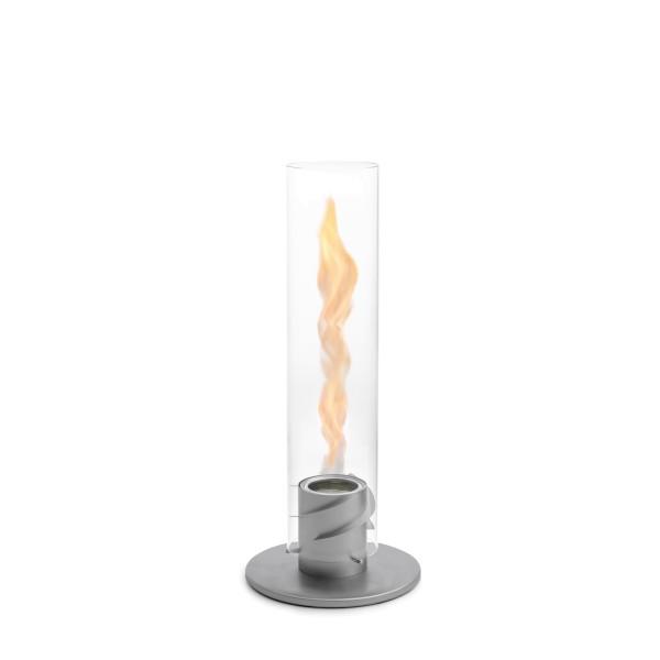 höfats SPIN Bioethanol Tischfeuer | Windlicht | Gartenfackel aus Edelstahl & Borosilikatglaszylinder