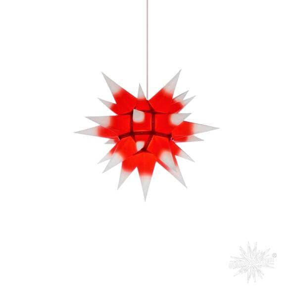 Herrnhuter Sterne ADVENTSSTERN Papier I4 ca. Ø40 cm | weiß mit rotem Kern