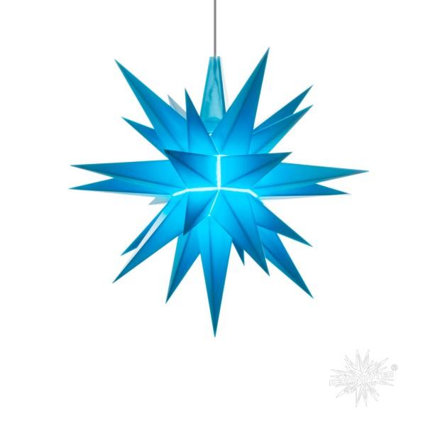 Herrnhuter Sterne LED ADVENTSSTERN Kunststoff A1e ca. Ø13 cm | blau