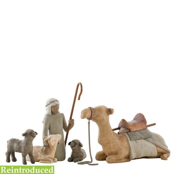 Willow Tree Figur Hirte mit Stalltieren / Shepherd & Stable Animals