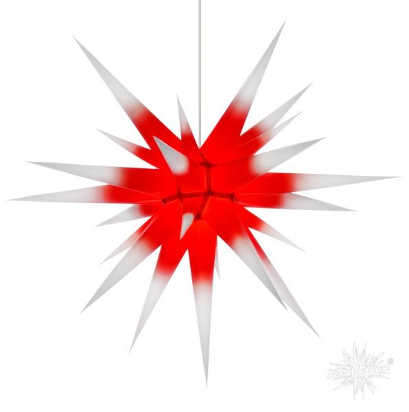 Herrnhuter Sterne ADVENTSSTERN Papier I8 ca. Ø80 cm | weiß mit rotem Kern