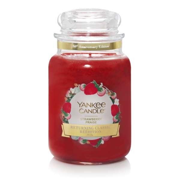 Yankee Candle Housewarmer STRAWBERRY Sonderduft 50th Anniversary 623g