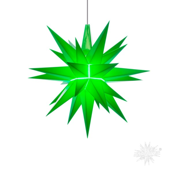 Herrnhuter Sterne LED ADVENTSSTERN Kunststoff A1e ca. Ø13 cm   grün