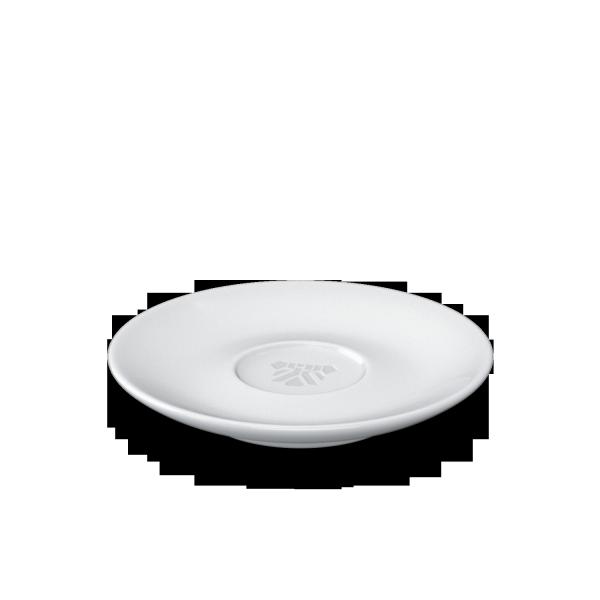 Fiftyeight Unterteller Espresso mit Prägung & Bodenmarke / weiß