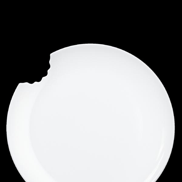 Fiftyeight 2er Set KUCHENTELLER MIT BISS (Ø 20 cm) / weiß