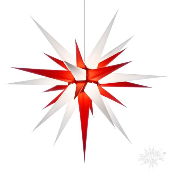 Herrnhuter Sterne ADVENTSSTERN Papier I8 ca. Ø80 cm | weiß-rot