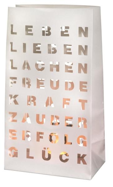 räder 2er Set Papier LICHTTÜTE Leben, Lieben, Lachen