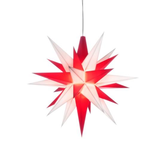 Herrnhuter Sterne LED ADVENTSSTERN Kunststoff Ø13 cm   weiß-rot