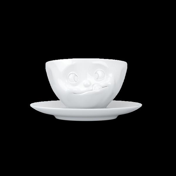 Fiftyeight Kaffeetasse LECKER ca. 200ml / weiß