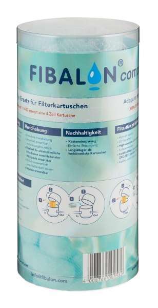 FIBALON compact Polymerfaser Poolfilter für Whirlpool Jacuzzi Spa | ersetzt 4 Zoll Filterkartusche