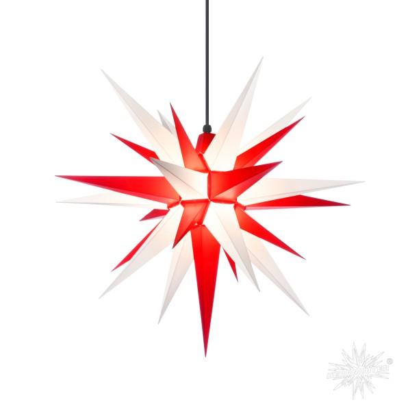 Herrnhuter Sterne ADVENTSSTERN Kunststoff A7 ca. Ø68 cm   weiß-rot