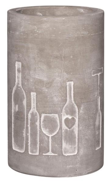 räder BETON FLASCHEN- & WEINKÜHLER Flasche und Glas