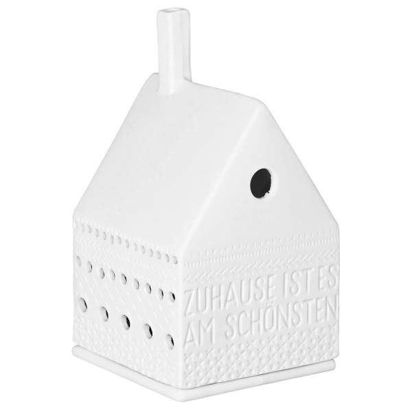 räder Porzellan LICHTHAUS Zuhause ist es am schönsten / 7cm x 7cm x 13cm