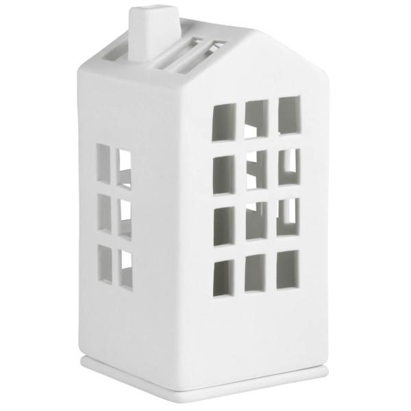 räder Porzellan MINI-LICHTHAUS Rathaus / 6cm x 6cm x 12,5cm