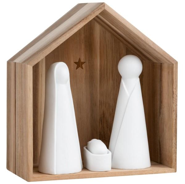 räder Holzhäuser Große Krippe mit Figuren