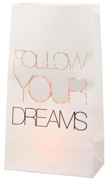 räder 2er Set Papier LICHTTÜTE Follow your dreams