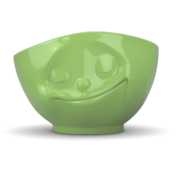 Fiftyeight Schale GLÜCKLICH ca. 500ml außen farbig / hellgrün