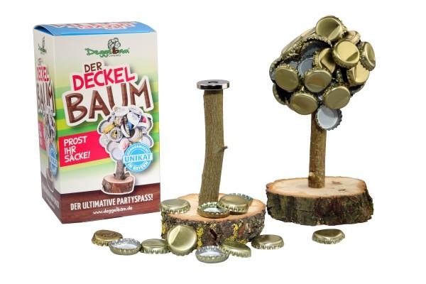 Deggelbam 2.0 Männergeschenk magnetischer Holzbaum als Kronkorkensammler   Trinkspiel