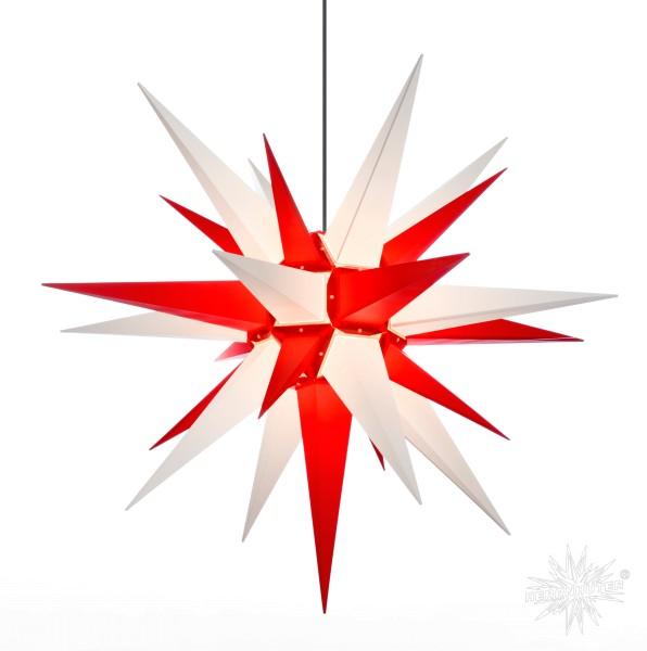 Herrnhuter Sterne ADVENTSSTERN Kunststoff A13 ca. Ø130 cm   weiß-rot