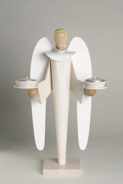 KWO Dekorationsfigur ENGEL weiß / 40 cm