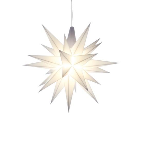 Herrnhuter Sterne LED ADVENTSSTERN Kunststoff Ø13 cm | weiß