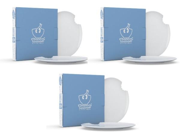 Fiftyeight 6er Set KUCHENTELLER MIT BISS (Ø 20 cm) / weiß