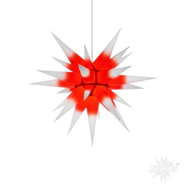 Herrnhuter Sterne ADVENTSSTERN Papier I6 ca. Ø60 cm | weiß mit rotem Kern