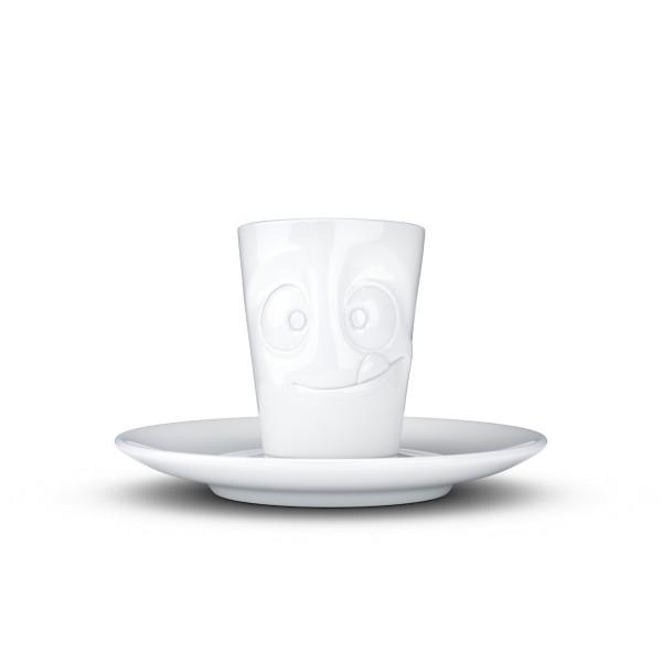 Fiftyeight Espressotasse Mini Mug LECKER 80ml / weiß