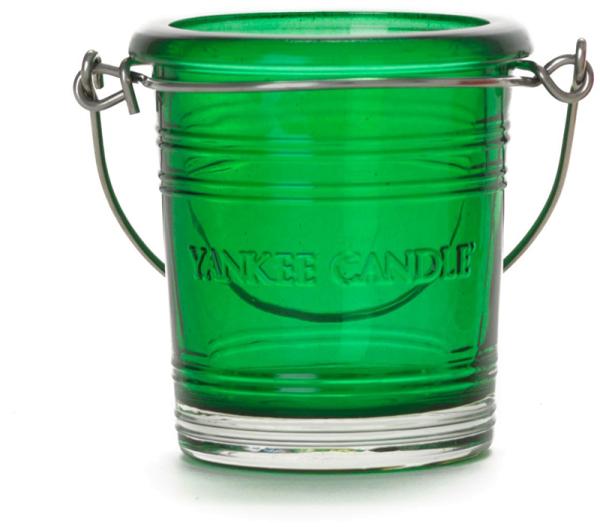 Yankee Candle Bucket Votivhalter / smaragdgrün