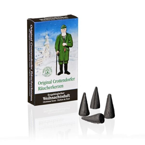 Crottendorfer Räucherkerzen ERZGEBIRGISCHER WEIHNACHTSDUFT / 24 Stück