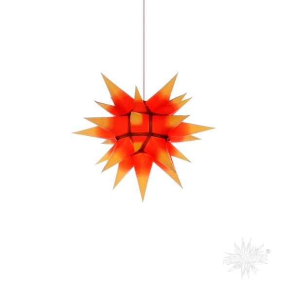 Herrnhuter Sterne ADVENTSSTERN Papier I4 ca. Ø40 cm | gelb mit rotem Kern