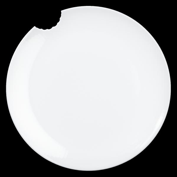 Fiftyeight 2er Set SPEISETELLER MIT BISS (Ø 28 cm) / weiß